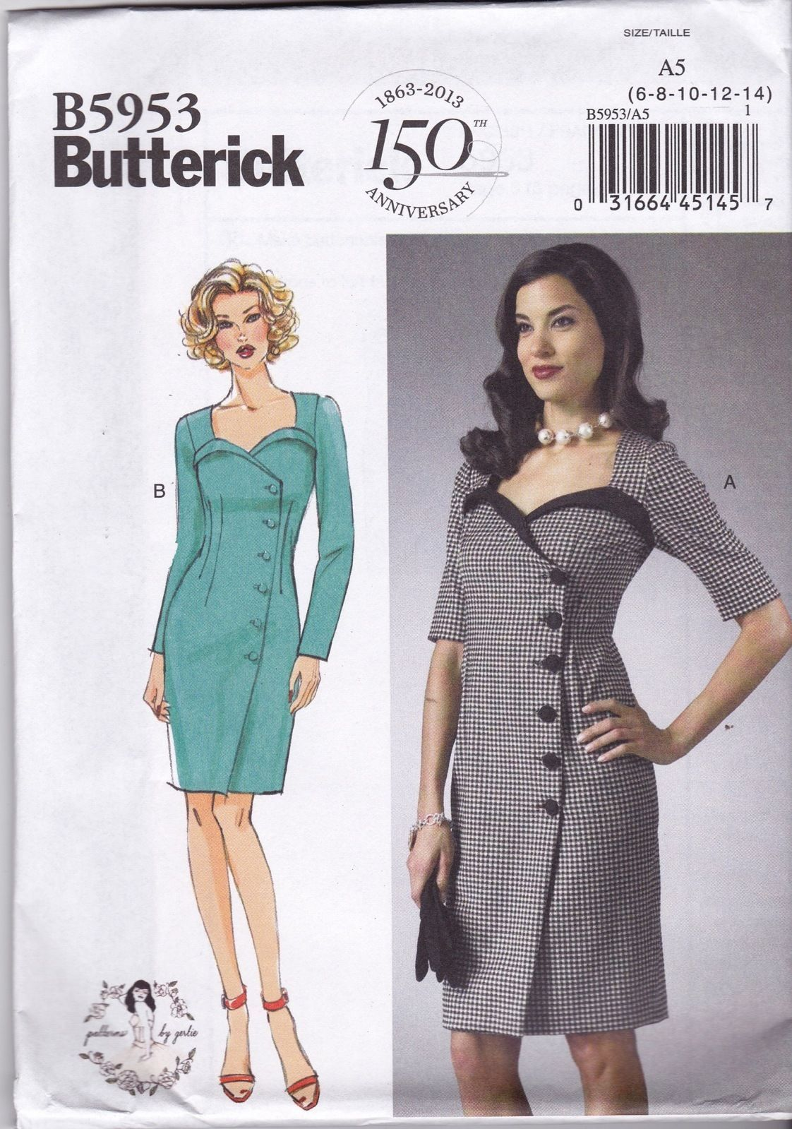 Butterick very easy sewing pattern misses fitted wrap dress sizes butterick very easy sewing pattern misses fitted wrap dress sizes 8 22 b5953 jeuxipadfo Choice Image